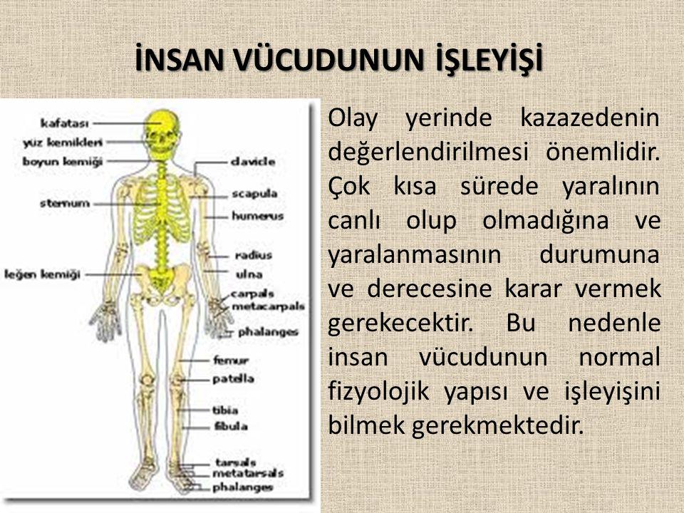 VÜCUT SİSTEMLERİ İlk yardım yapacak herkesin; 1) Kazazedeyi doğru değerlendirip, yapılması gerekenleri doğru olarak yapabilmesi için, 2) Tıbbi yardım ve iletişimde yanlış anlamaya neden olmamak için İnsan anatomisi hakkında bilgi sahibi olmak gerekmektedir.