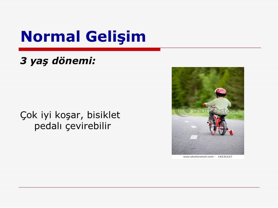 Normal Gelişim 3 yaş dönemi: Çok iyi koşar, bisiklet pedalı çevirebilir