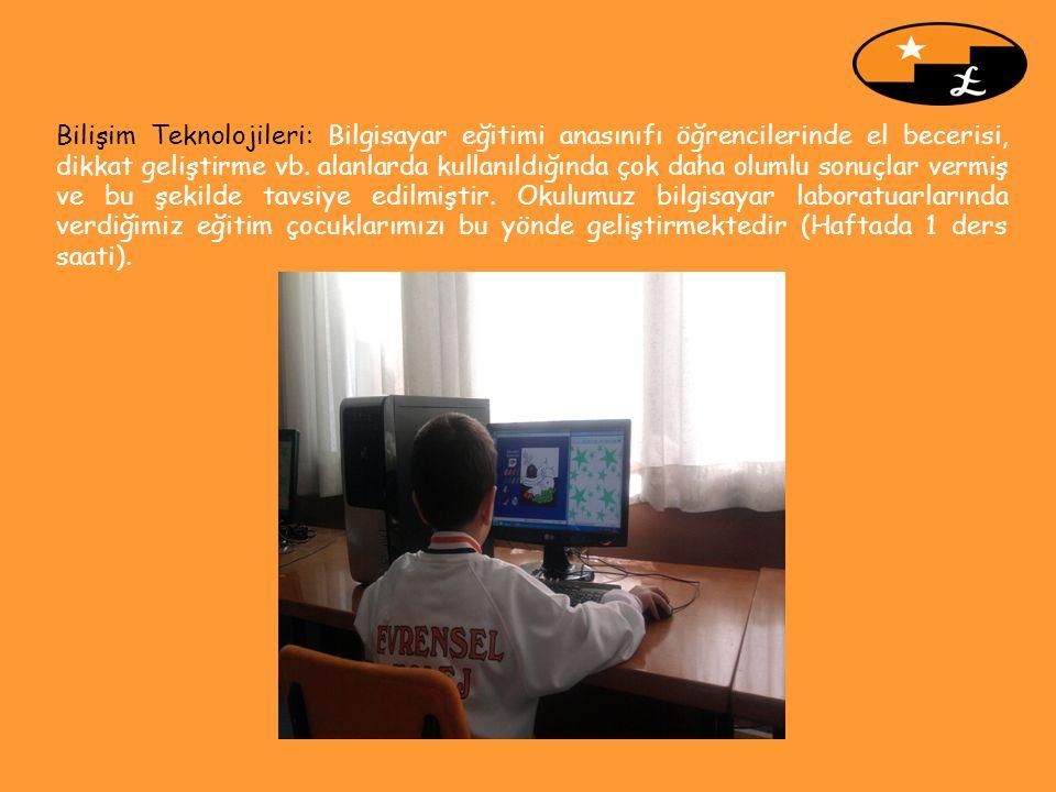 Bilişim Teknolojileri: Bilgisayar eğitimi anasınıfı öğrencilerinde el becerisi, dikkat geliştirme vb.