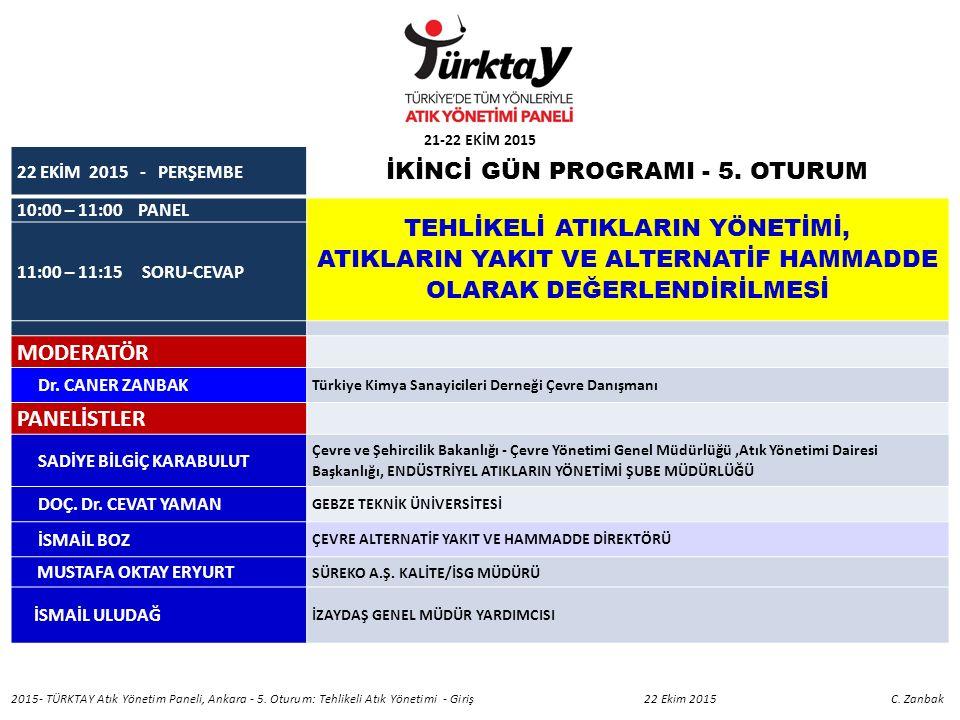 22 EKİM 2015 - PERŞEMBE İKİNCİ GÜN PROGRAMI - 5.