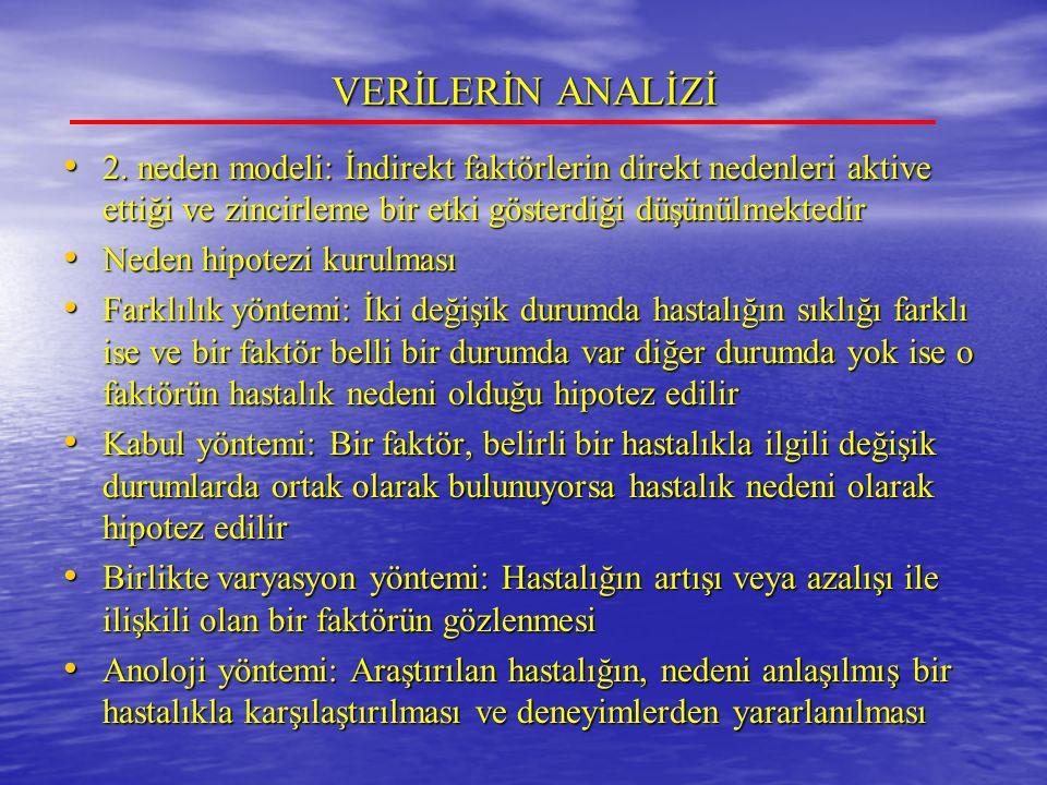 VERİLERİN ANALİZİ 2.