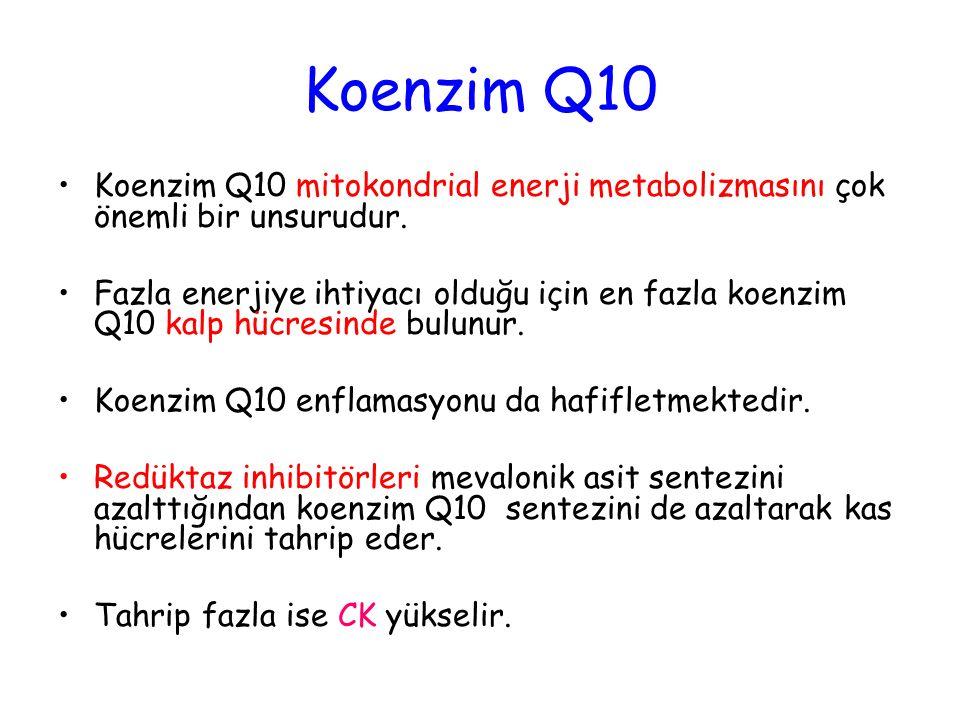 Koenzim Q10 Koenzim Q10 mitokondrial enerji metabolizmasını çok önemli bir unsurudur. Fazla enerjiye ihtiyacı olduğu için en fazla koenzim Q10 kalp hü