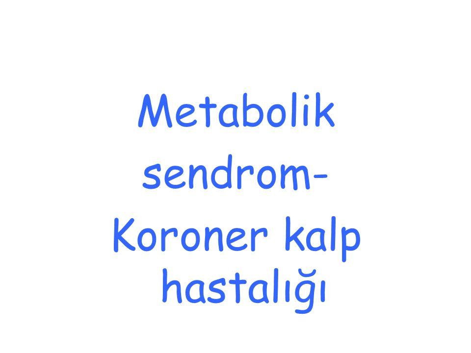 Metabolik sendrom- Koroner kalp hastalığı
