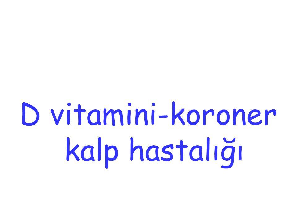 D vitamini-koroner kalp hastalığı