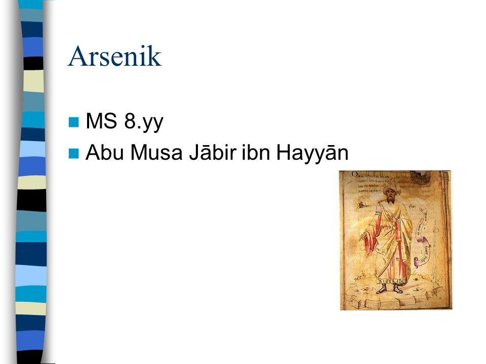 Arsenik MS 8.yy Abu Musa Jābir ibn Hayyān