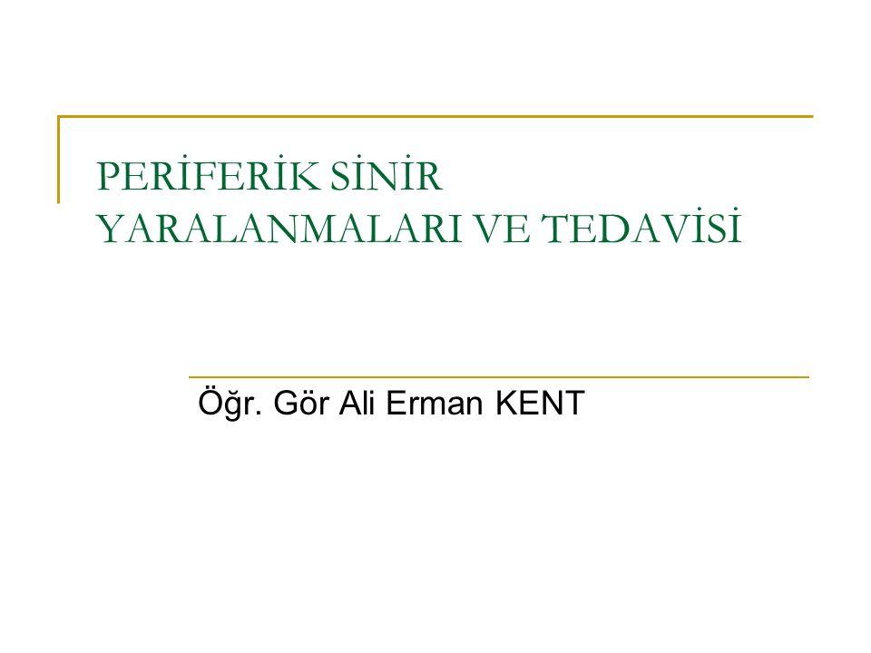 PERİFERİK SİNİR YARALANMALARI VE TEDAVİSİ Öğr. Gör Ali Erman KENT