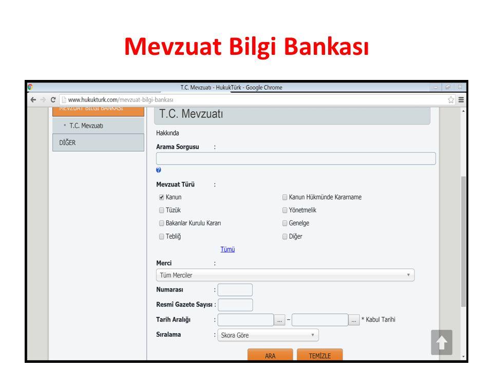 Mevzuat Bilgi Bankası