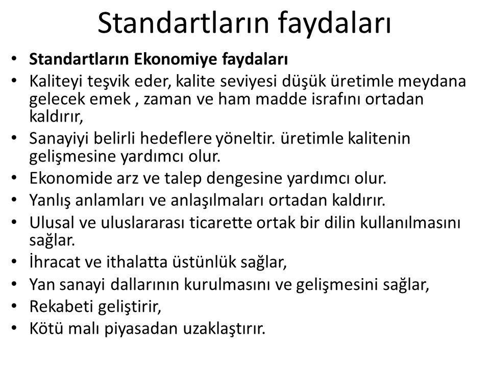 Türk Standartları Enstitüsü Türk Standartları Enstitüsü; her türlü madde ve mamuller ile usul ve hizmet standartlarını yapmak amacıyla 18.11.1960 tarih ve 132 sayılı kanunla kurulmuştur.