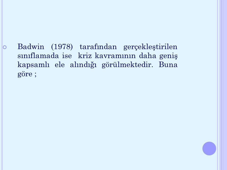 a) Krize müdahalenin en önemli ilkesi acil müdahaledir (Çaplan 1984).