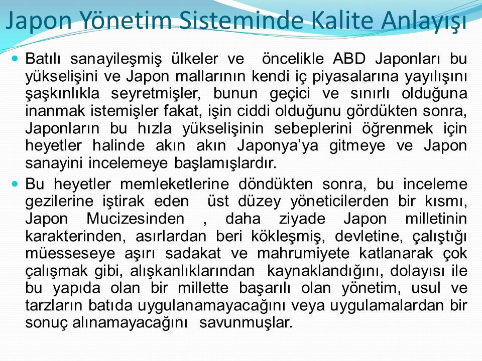 Batılı sanayileşmiş ülkeler ve öncelikle ABD Japonları bu yükselişini ve Japon mallarının kendi iç piyasalarına yayılışını şaşkınlıkla seyretmişler, b