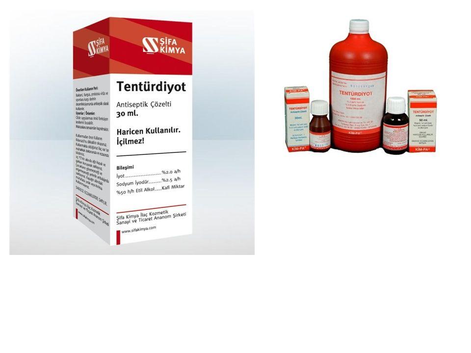 Tentürdiyot 1 litreye 3-4 damla ile su dezenfeksiyonunda kullanılabilir.