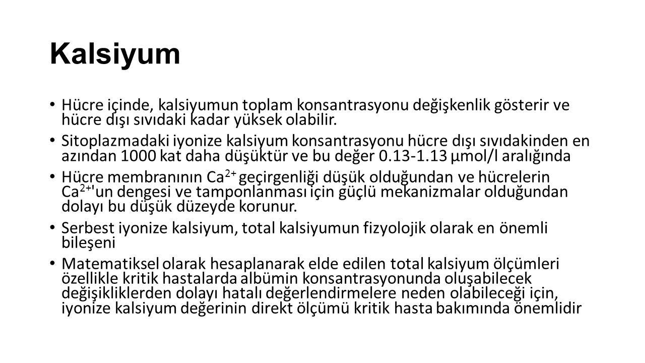 Kalsiyum Günlük gıdalardan 1-3 gram kalsiyum alınır.