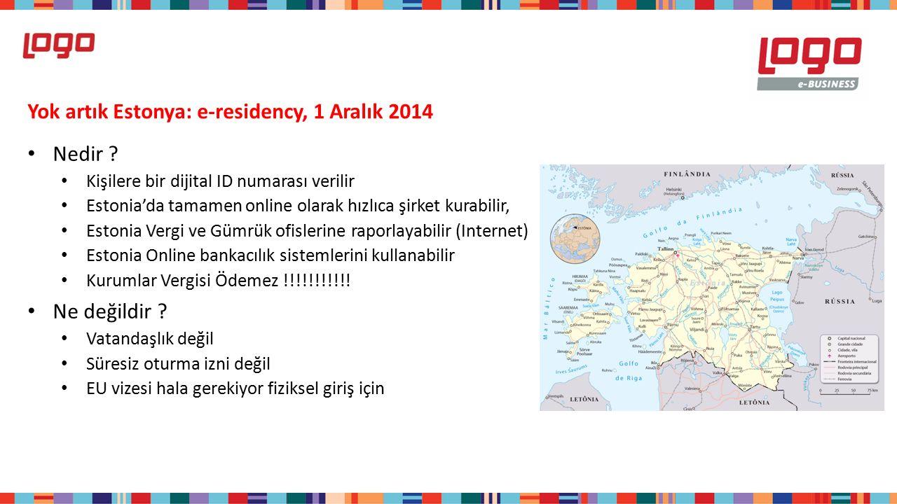 Yok artık Estonya: e-residency, 1 Aralık 2014 Nedir .