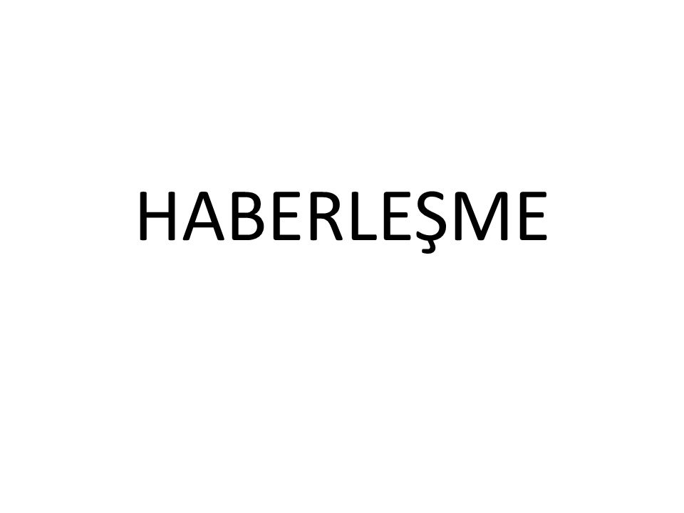 HABERLEŞME