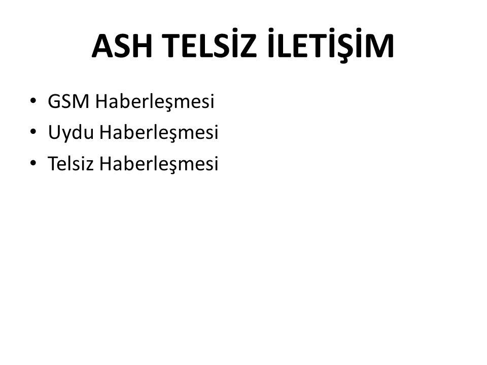 ASH TELSİZ İLETİŞİM GSM Haberleşmesi Uydu Haberleşmesi Telsiz Haberleşmesi