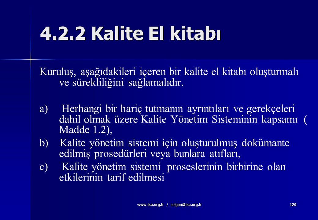 www.tse.org.tr / solgun@tse.org.tr119 İş talimatı nasıl oluşturulur ? l l Spesifik hedefler belirtilir. l l İstenen sonuç için gerekli ifadeler kullan