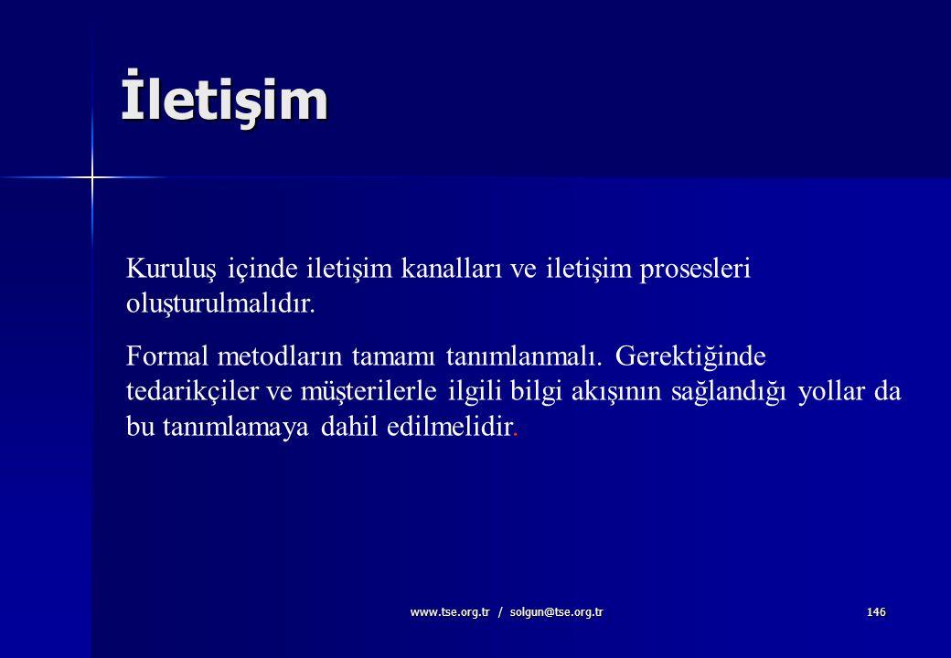 www.tse.org.tr / solgun@tse.org.tr145