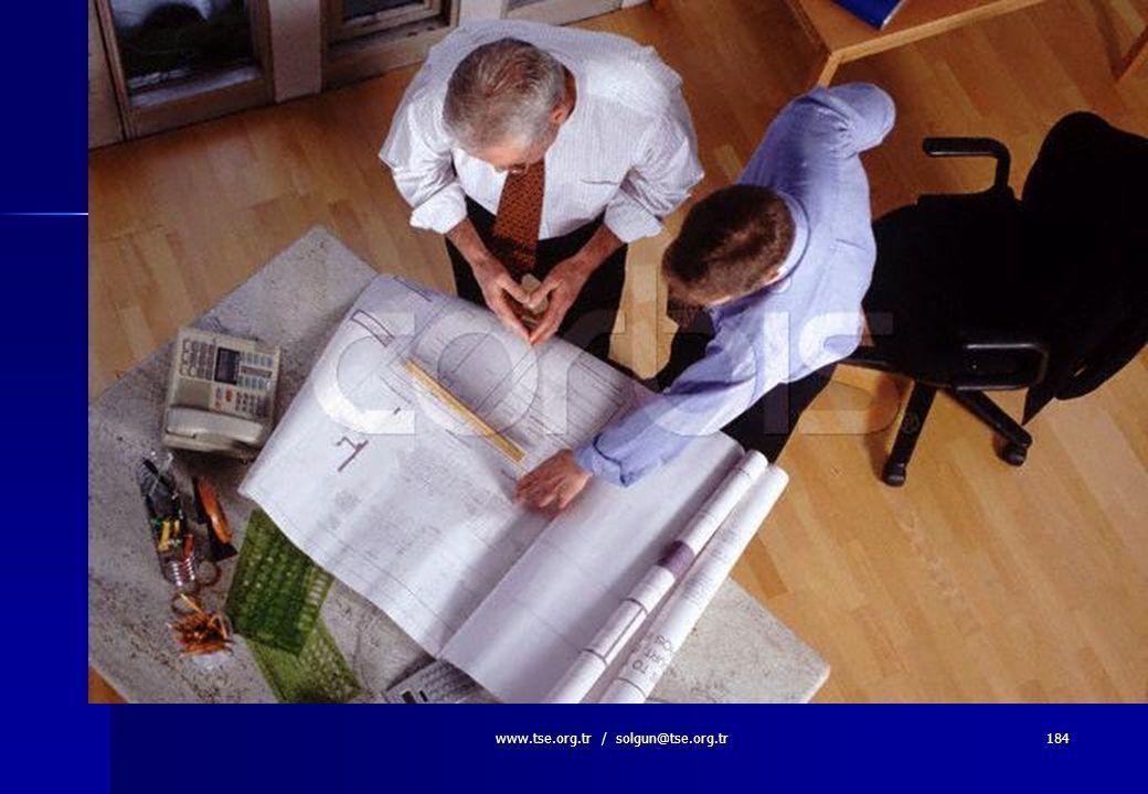 www.tse.org.tr / solgun@tse.org.tr183 Tasarım Değişiklikleri  Hesaplama ve malzeme seçimi gibi tasarım safhasında ortaya çıkan hatalar,  Tasarım saf