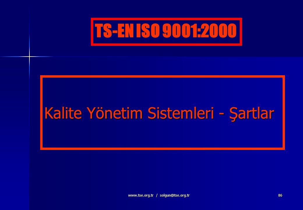 www.tse.org.tr / solgun@tse.org.tr85 Yönetimde Sistem Yaklaşımı