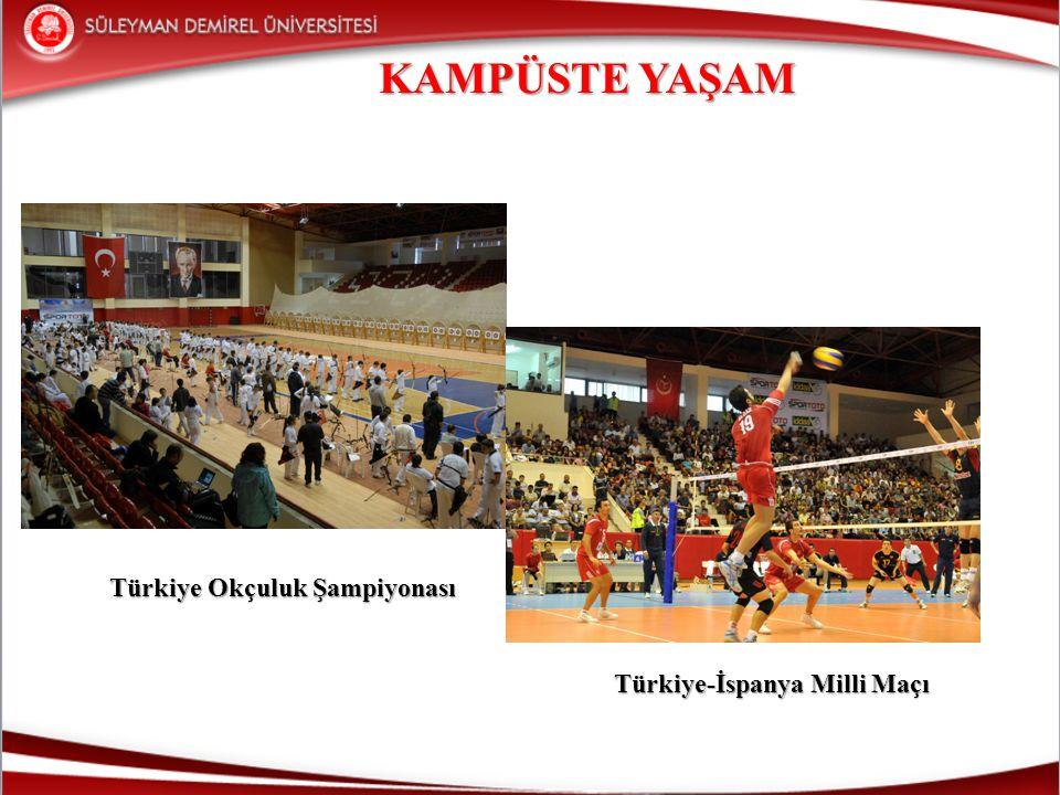KAMPÜSTE YAŞAM Türkiye Okçuluk Şampiyonası Türkiye Okçuluk Şampiyonası Türkiye-İspanya Milli Maçı Türkiye-İspanya Milli Maçı