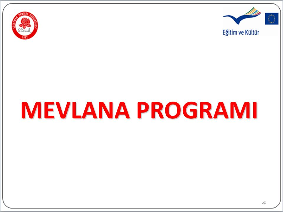 MEVLANA PROGRAMI 60