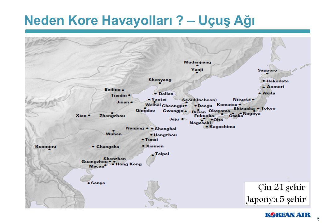 Neden Kore Havayolları ? – Uçuş Ağı 5