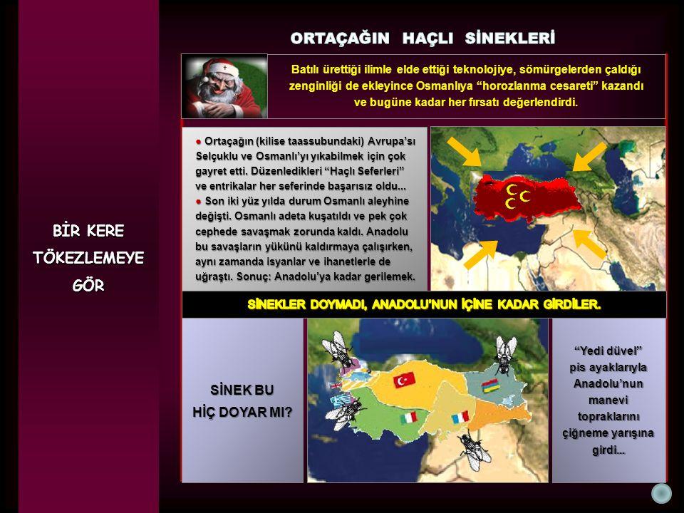 """BİR KERE TÖKEZLEMEYEGÖR Batılı ürettiği ilimle elde ettiği teknolojiye, sömürgelerden çaldığı zenginliği de ekleyince Osmanlıya """"horozlanma cesareti"""""""