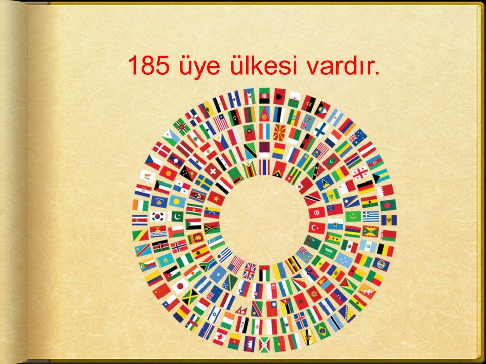 185 üye ülkesi vardır.