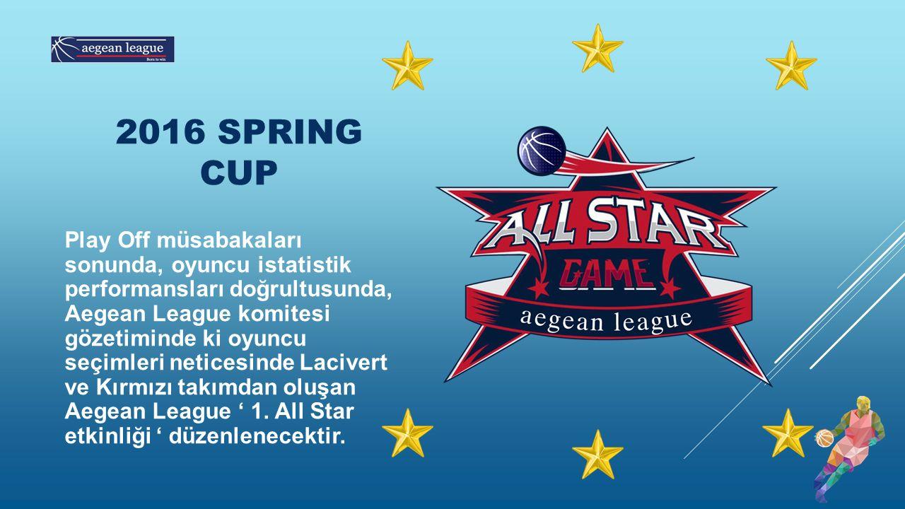 Play Off müsabakaları sonunda, oyuncu istatistik performansları doğrultusunda, Aegean League komitesi gözetiminde ki oyuncu seçimleri neticesinde Lacivert ve Kırmızı takımdan oluşan Aegean League ' 1.