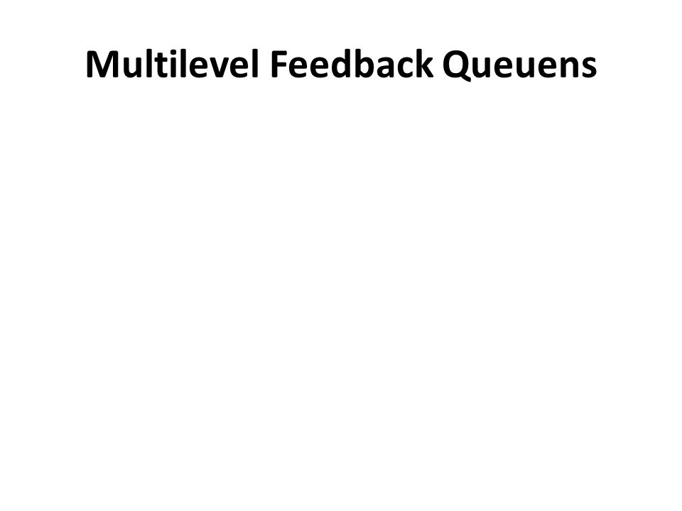 Multilevel Feedback Queuens