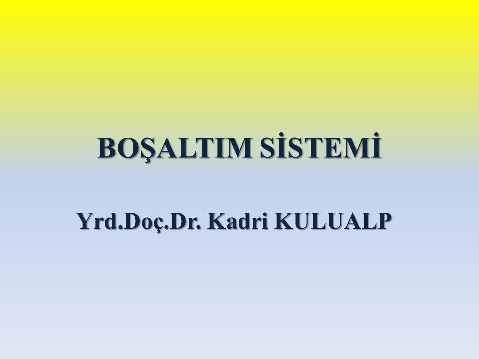 BOŞALTIM SİSTEMİ Yrd.Doç.Dr. Kadri KULUALP