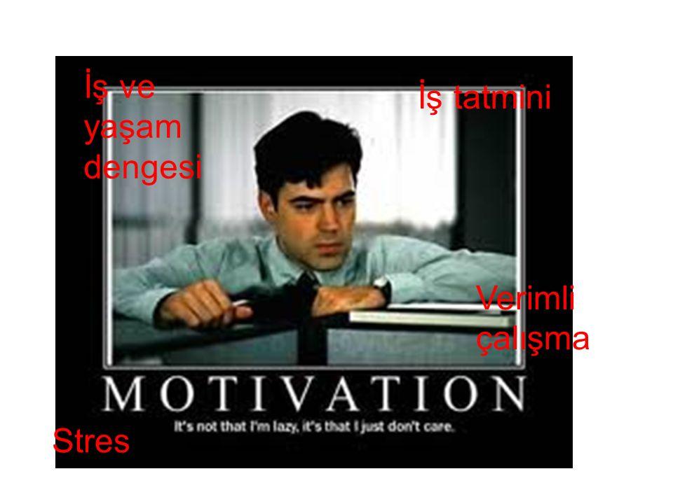 İş ve yaşam dengesi İş tatmini Verimli çalışma Stres
