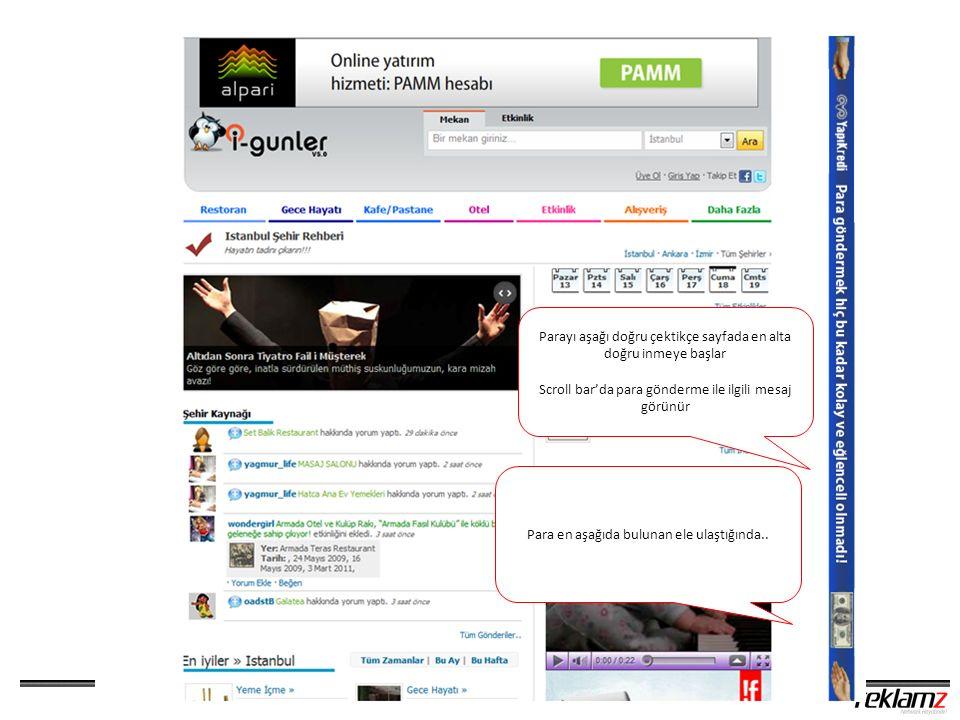 Sitenin en altında kampanya banner'ı görünür