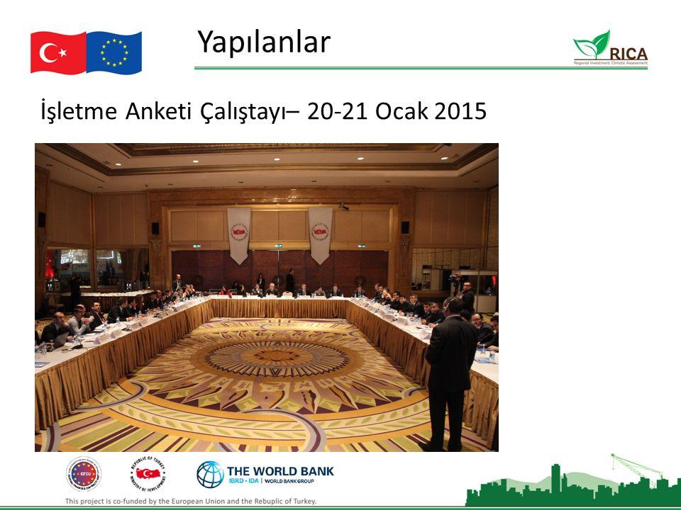 İşletme Anketi Çalıştayı– 20-21 Ocak 2015 Yapılanlar