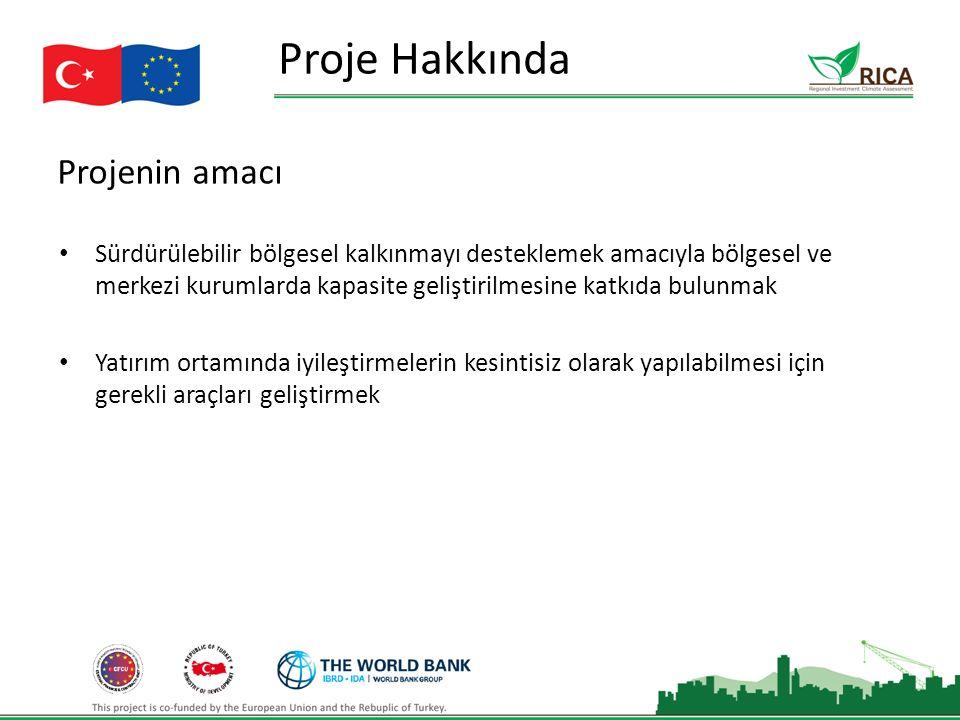 Projenin amacı Proje Hakkında Sürdürülebilir bölgesel kalkınmayı desteklemek amacıyla bölgesel ve merkezi kurumlarda kapasite geliştirilmesine katkıda