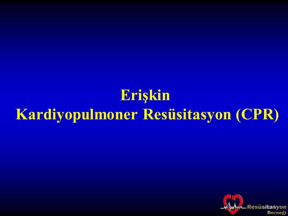 Kardiyak arrest ritimleri: Asistoli Nabızsız elektriksel aktivite I.