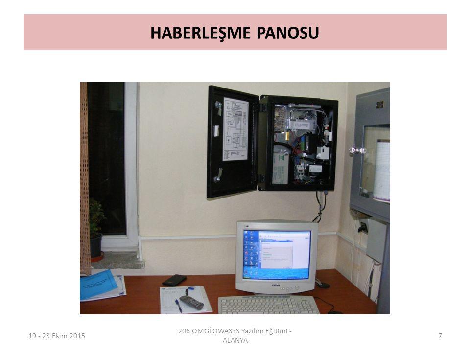 HABERLEŞME PANOSU 19 - 23 Ekim 2015 206 OMGİ OWASYS Yazılım Eğitimi - ALANYA 7