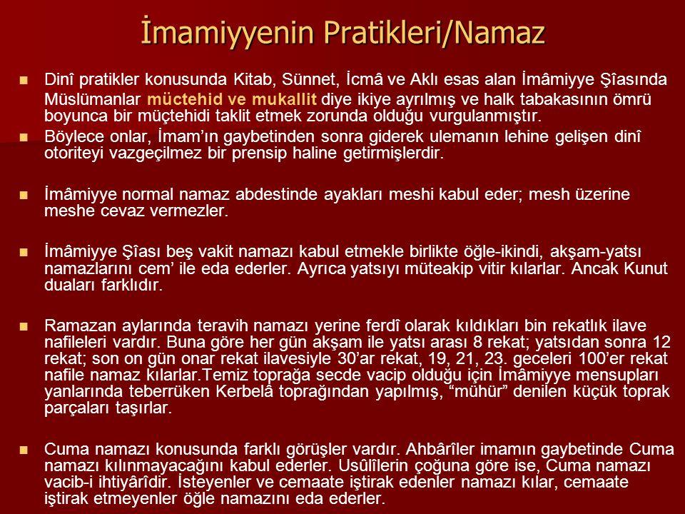 İmamiyyenin Pratikleri/Namaz Dinî pratikler konusunda Kitab, Sünnet, İcmâ ve Aklı esas alan İmâmiyye Şîasında Müslümanlar müctehid ve mukallit diye ik