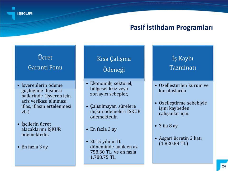 24 Pasif İstihdam Programları