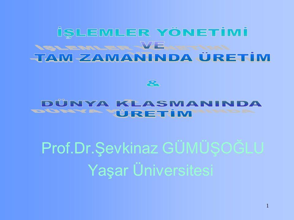 1 Prof.Dr.Şevkinaz GÜMÜŞOĞLU Yaşar Üniversitesi