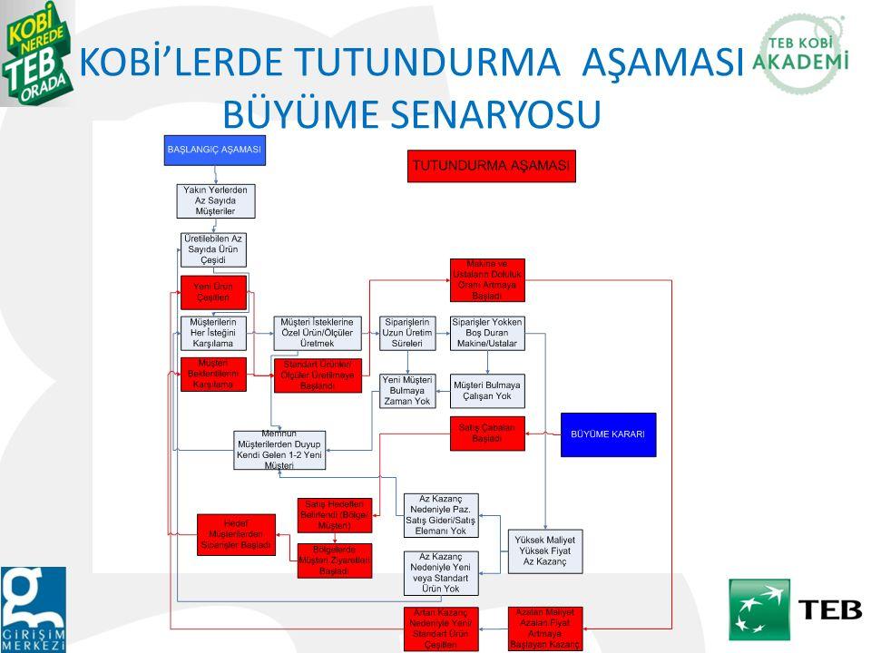 KOBİ'LERDE TUTUNDURMA AŞAMASI BÜYÜME SENARYOSU