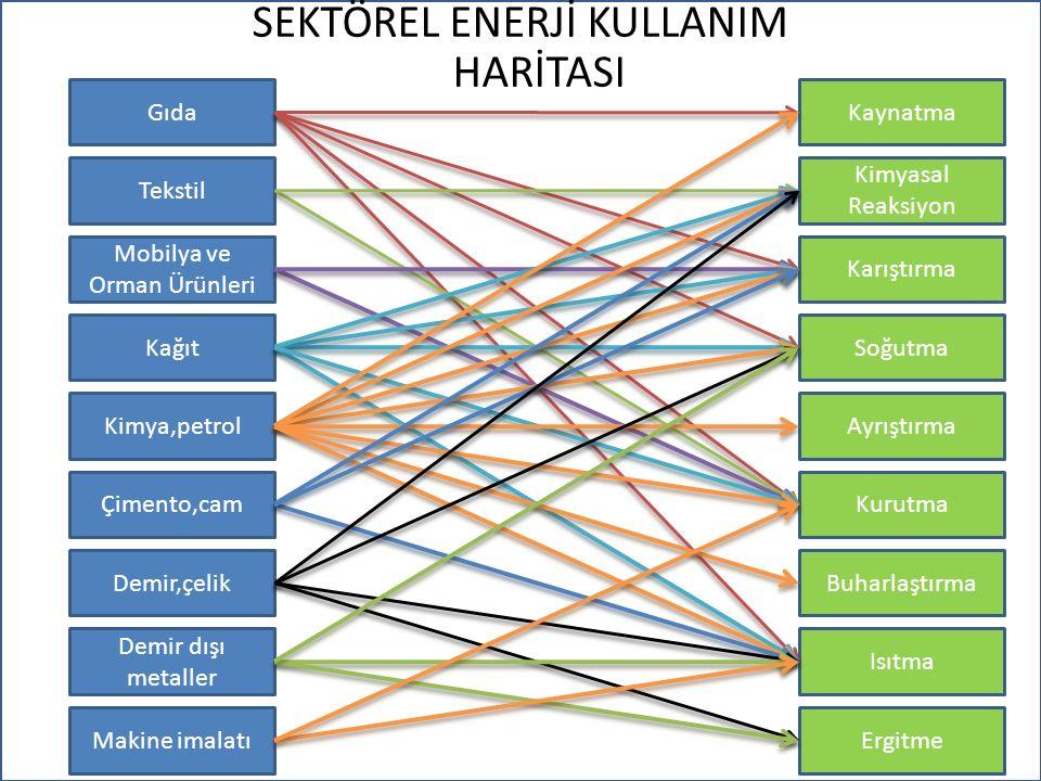 Sektörel Bazlı Enerji tüketimi işletmelerin ürün ve/veya hizmet sürecinde kullandıkları enerji kaynağına direkt olarak bağlıdır.