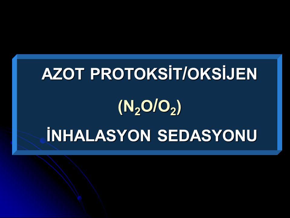 AZOT PROTOKSİT / OKSİJEN (N 2 O / O 2 ) İNHALASYON SEDASYONU İNHALASYON SEDASYONU