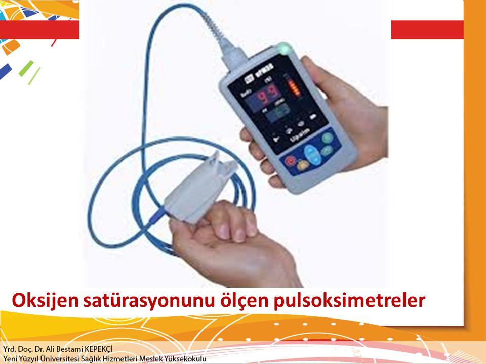 Oksijen satürasyonunu ölçen pulsoksimetreler