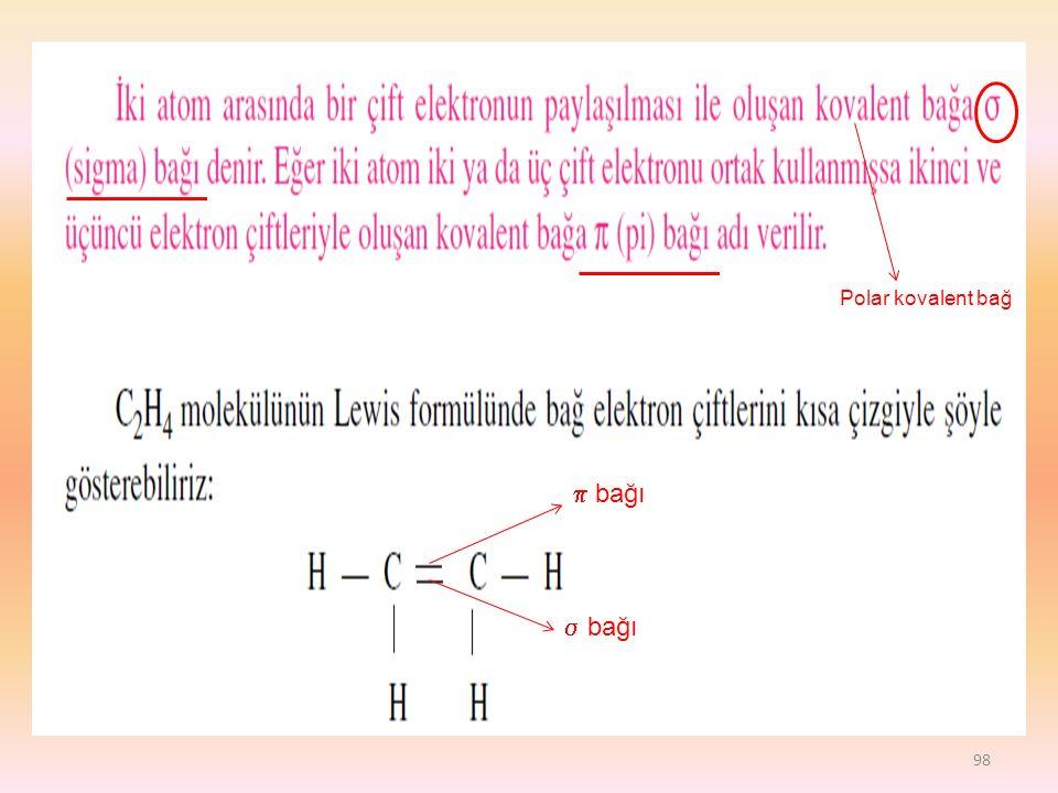 98  bağı  bağı Polar kovalent bağ