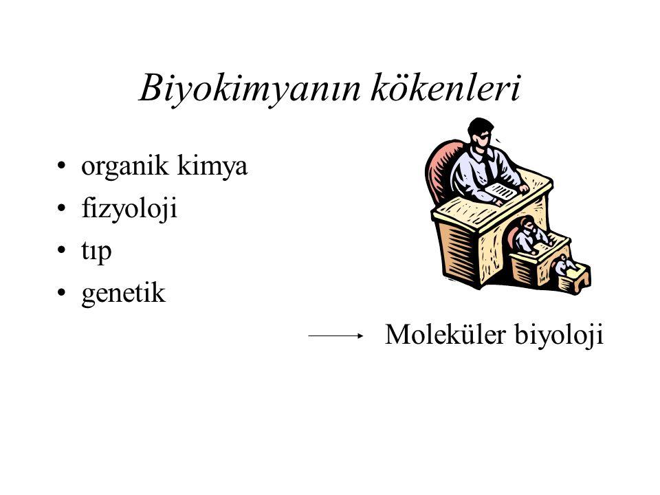 Biyokimyanın kökenleri organik kimya fizyoloji tıp genetik Moleküler biyoloji