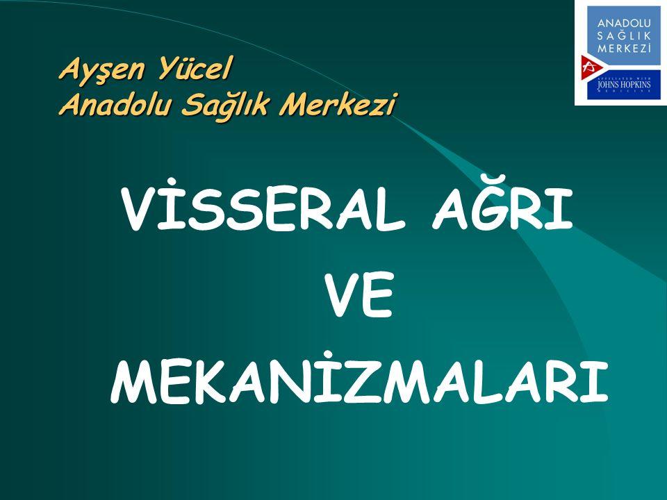 Ayşen Yücel Anadolu Sağlık Merkezi VİSSERAL AĞRI VE MEKANİZMALARI