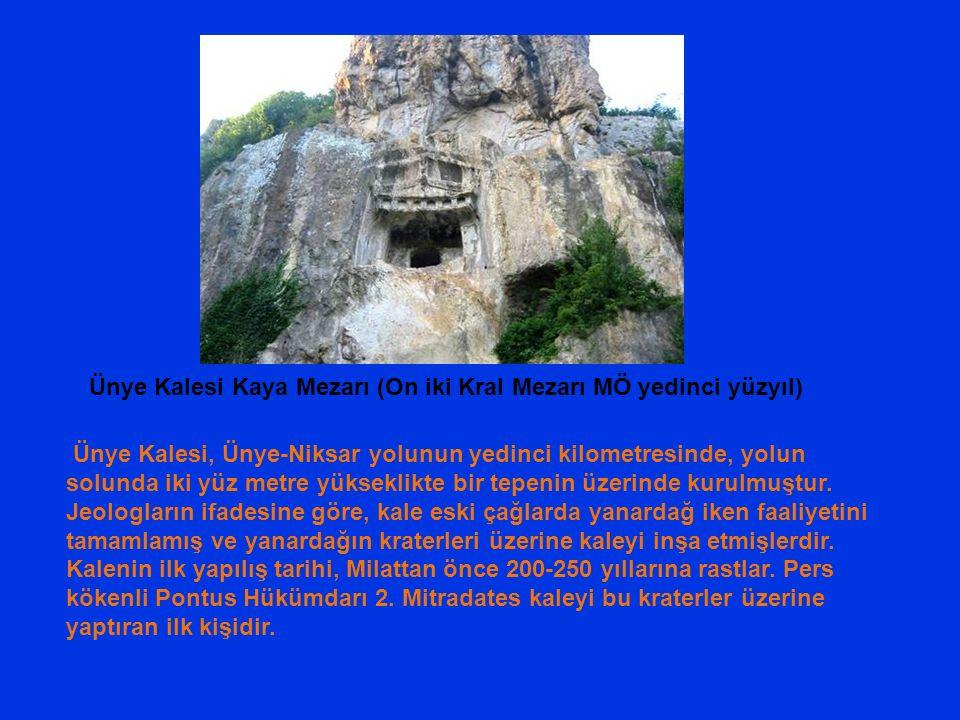 Ünye Kalesi, Ünye-Niksar yolunun yedinci kilometresinde, yolun solunda iki yüz metre yükseklikte bir tepenin üzerinde kurulmuştur.