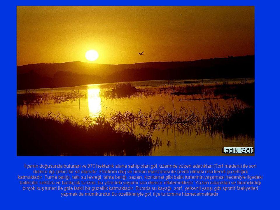 İlçenin doğusunda bulunan ve 870 hektarlık alana sahip olan göl, üzerinde yüzen adacıkları (Torf madeni) ile son derece ilgi çekici bir sit alanıdır.