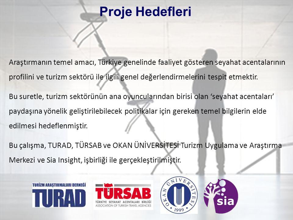 3 Araştırmanın temel amacı, Türkiye genelinde faaliyet gösteren seyahat acentalarının profilini ve turizm sektörü ile ilgili genel değerlendirmelerini